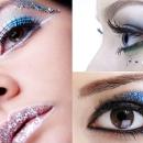 Новогодний синий макияж 2012