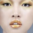 Новогодний золотой макияж 2012