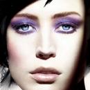 Новогодний фиолетовый макияж 2012
